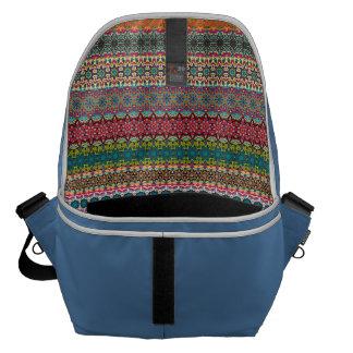 Vintages Stammes- aztekisches Muster Kurier Tasche