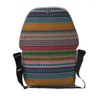 Vintages Stammes- aztekisches Muster Kurier Taschen