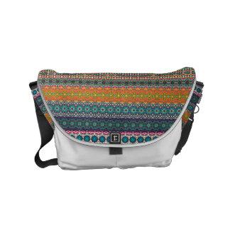 Vintages Stammes- aztekisches Muster Kuriertaschen