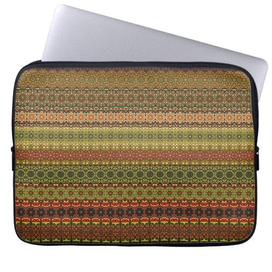Vintages Stammes- aztekisches Muster Laptopschutzhülle