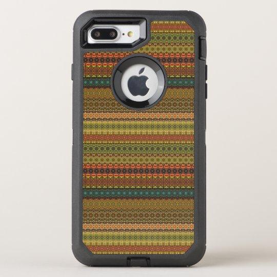 Vintages Stammes- aztekisches Muster OtterBox Defender iPhone 7 Plus Hülle