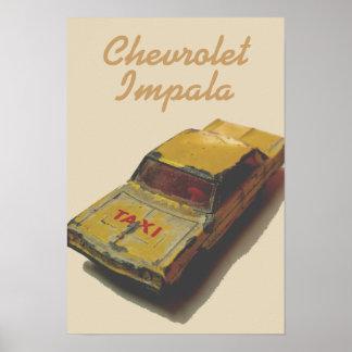 Vintages Streichholzschachtel-Gelb-Fahrerhaus Poster
