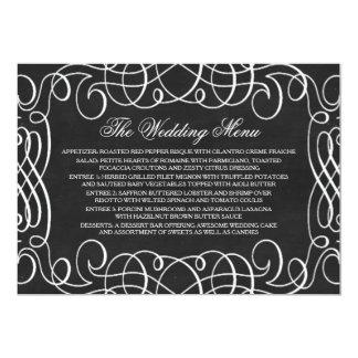 Vintages Tafel-Hochzeits-Menü 12,7 X 17,8 Cm Einladungskarte