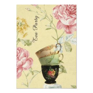 Vintages Tee-Party des eleganten Teacupfrühlinges Karte