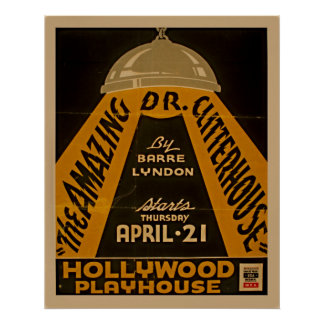 Vintages Theater-Plakat Poster