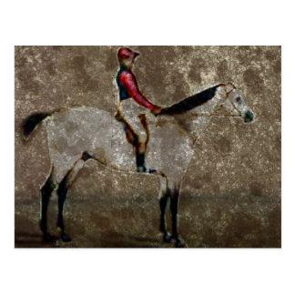 Vintages Thoroughbred-Rennen-Pferd Postkarte