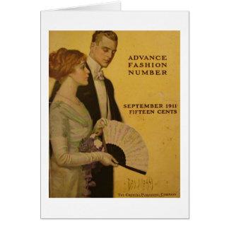 Vintages Titelseite, Sept. 1911 Grußkarte