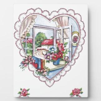 Vintages Valentine-Herz Schautafeln
