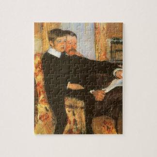 Vintages Vater-und Sohn-Porträt durch Mary Cassatt