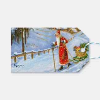 Vintages Vater-Weihnachten Geschenkanhänger