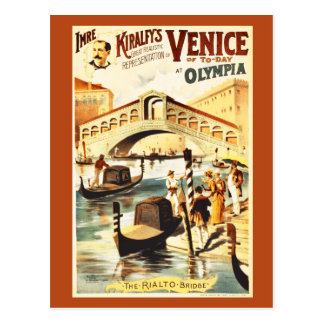 Vintages Venedig von heute, Rialto Brücke Postkarte