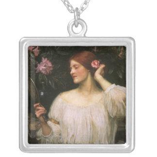 Vintages viktorianisches Porträt, Eitelkeit durch Versilberte Kette