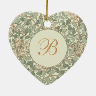 Vintages weiches mit Blumengirly Keramik Herz-Ornament