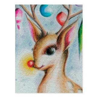 Vintages Weihnachten Bambi Postkarte