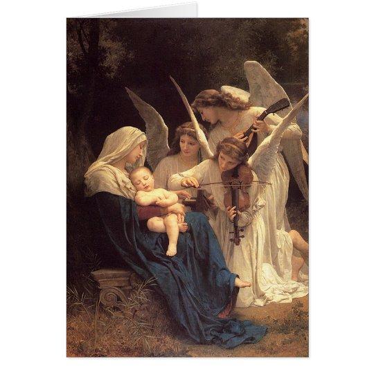 Vintages Weihnachten Engelserenade-Marys Grußkarte
