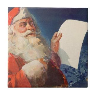 Vintages Weihnachten, freche Nizza Liste Fliese