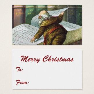 Vintages Weihnachten, freche Nizza Liste Visitenkarte
