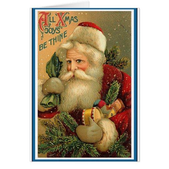 Vintages Weihnachten Grußkarte