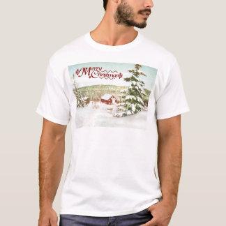 Vintages Weihnachten in Norwegen, 1950 T-Shirt