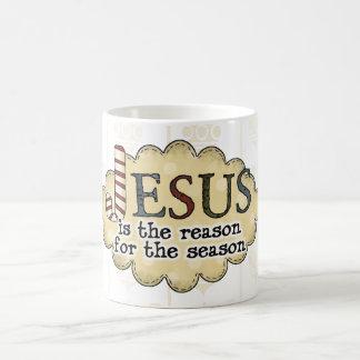 Vintages Weihnachten Jesus ist die Kaffeetasse