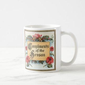 Vintages Weihnachten, Komplimente der Jahreszeit Kaffeetasse