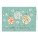 Vintages Weihnachten verziert Gruß-Karte