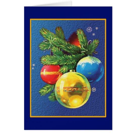 Vintages Weihnachten verziert Weihnachten Grußkarte
