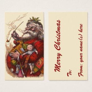 Vintages Weihnachten, viktorianische Visitenkarte