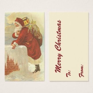 Vintages Weihnachten viktorianischer Visitenkarte