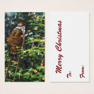 Vintages Weihnachten, viktorianischer Visitenkarte