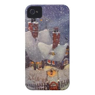 Vintages Weihnachten, Weihnachtsmann-Werkstatt Case-Mate iPhone 4 Hülle