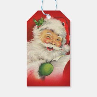 Vintages Weihnachtsmann-Weihnachten Geschenkanhänger