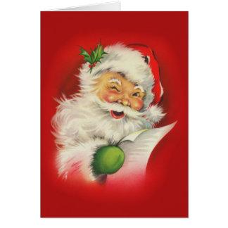 Vintages Weihnachtsmann-Weihnachten Mitteilungskarte