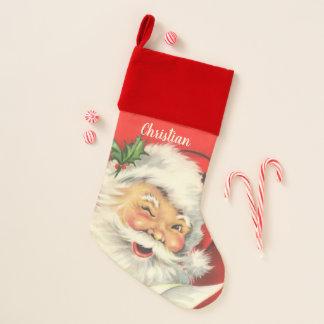 Vintages Weihnachtsmann-Weihnachten personalisiert Weihnachtsstrumpf
