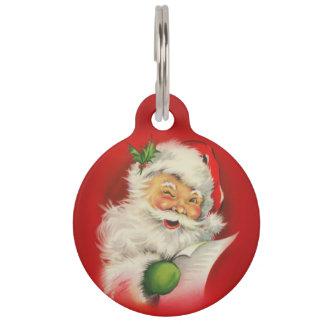 Vintages Weihnachtsmann-Weihnachten Tiernamensmarke