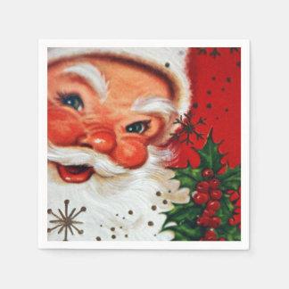 Vintages Weihnachtsretro Sankt-Partyservietten Papierserviette