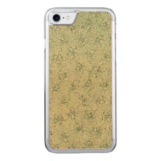 Vintages weises Mit Blumengrün Carved iPhone 8/7 Hülle