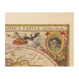 Vintages Weltkarten-Wandteil 3 von 9 Nr. C1 Holzdrucke