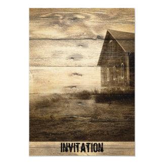 Vintages Westernland Housewarming-Party lädt ein 12,7 X 17,8 Cm Einladungskarte