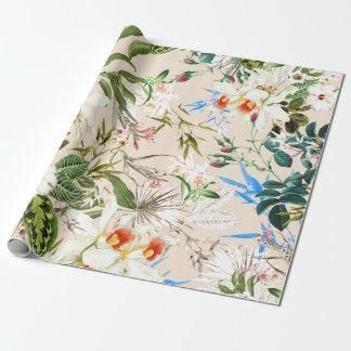 Vintages Wildblumen-Muster Geschenkpapier
