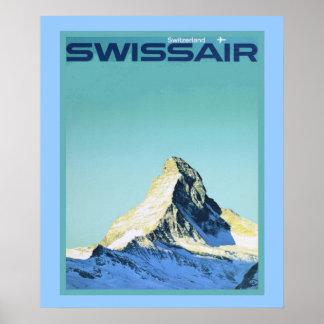Vintages Wintersportplakat Plakatdrucke