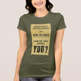 Vintages Zeichen: Notverordnungen jetzt in der T-Shirt
