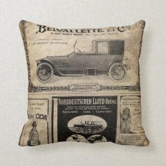 Vintages Zeitungs-Gewohnheits-Geschenk Zierkissen