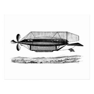 Vintages Zellen-lenkbar-viktorianisches Luftschiff Postkarte