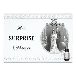 VintageSilver (25.) Jahrestags-Party Einladungen