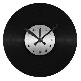 Vinyl-Blick LP-Aufzeichnung Große Wanduhr