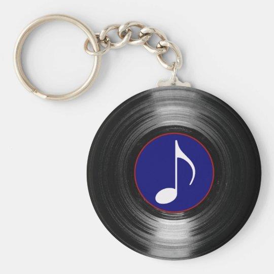 Vinyl der musikalischen Anmerkung Schlüsselanhänger