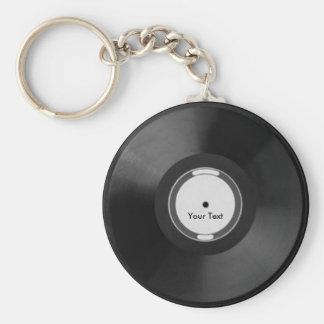 Vinyl.Record Standard Runder Schlüsselanhänger