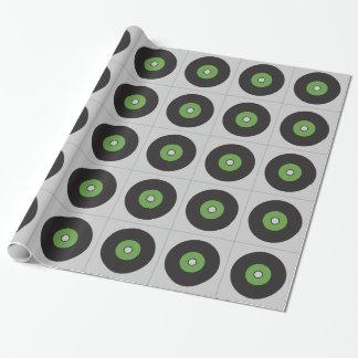 Vinylaufzeichnungs-Grün-Schwarzes und Grau Geschenkpapier