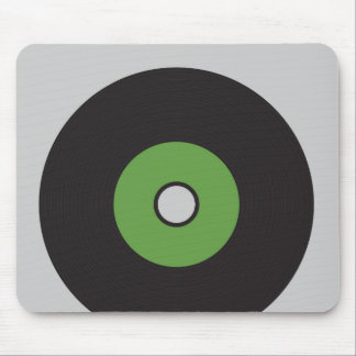 Vinylaufzeichnungs-Grün-Schwarzes und Grau Mauspads